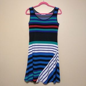 Calvin Klein multicolor striped dress size 4